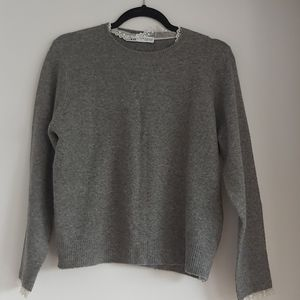 Zara knit with lace detail.